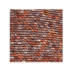 Roof Tiles On A Country House Small Satin Scarf (square) by Amaryn4rt