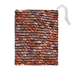 Roof Tiles On A Country House Drawstring Pouches (extra Large) by Amaryn4rt