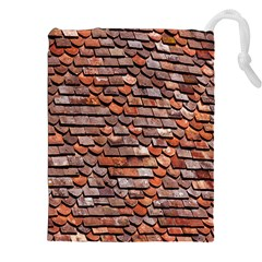 Roof Tiles On A Country House Drawstring Pouches (xxl) by Amaryn4rt