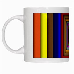 Square Abstract Geometric Art White Mugs by Amaryn4rt