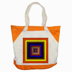 Square Abstract Geometric Art Accent Tote Bag by Amaryn4rt