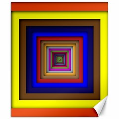 Square Abstract Geometric Art Canvas 8  X 10  by Amaryn4rt