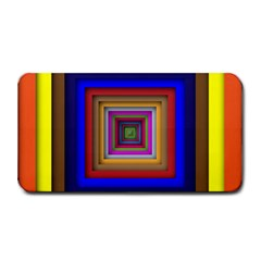 Square Abstract Geometric Art Medium Bar Mats by Amaryn4rt