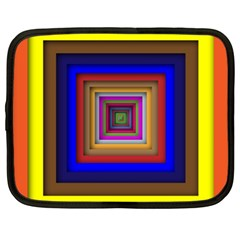 Square Abstract Geometric Art Netbook Case (xxl)  by Amaryn4rt