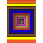 Square Abstract Geometric Art 5.5  x 8.5  Notebooks Back Cover Inside