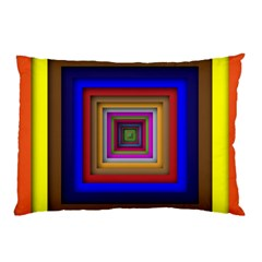 Square Abstract Geometric Art Pillow Case (two Sides) by Amaryn4rt