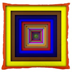 Square Abstract Geometric Art Large Cushion Case (two Sides) by Amaryn4rt