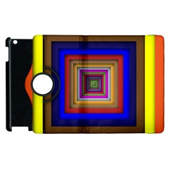 Square Abstract Geometric Art Apple Ipad 2 Flip 360 Case by Amaryn4rt