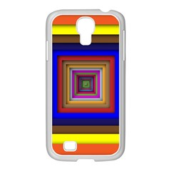 Square Abstract Geometric Art Samsung Galaxy S4 I9500/ I9505 Case (white) by Amaryn4rt