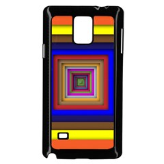 Square Abstract Geometric Art Samsung Galaxy Note 4 Case (black) by Amaryn4rt