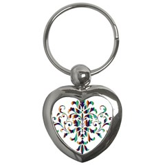 Damask Decorative Ornamental Key Chains (heart)  by Amaryn4rt