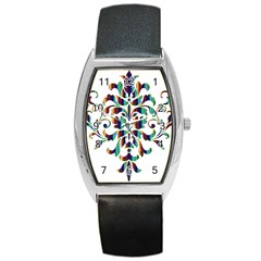 Damask Decorative Ornamental Barrel Style Metal Watch
