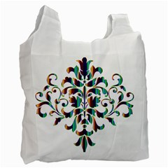 Damask Decorative Ornamental Recycle Bag (one Side) by Amaryn4rt