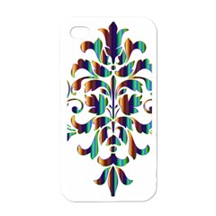 Damask Decorative Ornamental Apple Iphone 4 Case (white) by Amaryn4rt