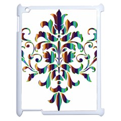 Damask Decorative Ornamental Apple Ipad 2 Case (white) by Amaryn4rt