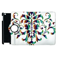 Damask Decorative Ornamental Apple Ipad 2 Flip 360 Case by Amaryn4rt