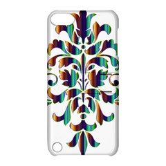 Damask Decorative Ornamental Apple Ipod Touch 5 Hardshell Case With Stand by Amaryn4rt