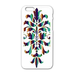 Damask Decorative Ornamental Apple Iphone 6/6s White Enamel Case by Amaryn4rt