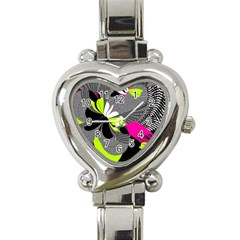 Nameless Fantasy Heart Italian Charm Watch