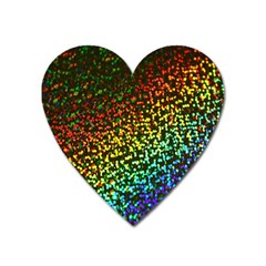 Construction Paper Iridescent Heart Magnet by Amaryn4rt