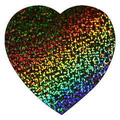 Construction Paper Iridescent Jigsaw Puzzle (heart) by Amaryn4rt