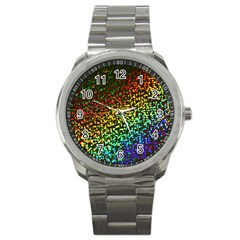 Construction Paper Iridescent Sport Metal Watch by Amaryn4rt