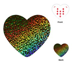 Construction Paper Iridescent Playing Cards (heart)  by Amaryn4rt