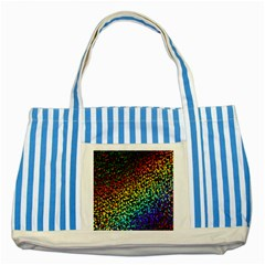 Construction Paper Iridescent Striped Blue Tote Bag by Amaryn4rt