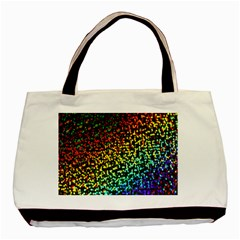 Construction Paper Iridescent Basic Tote Bag (two Sides) by Amaryn4rt