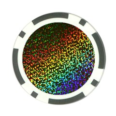 Construction Paper Iridescent Poker Chip Card Guard by Amaryn4rt