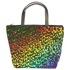 Construction Paper Iridescent Bucket Bags by Amaryn4rt