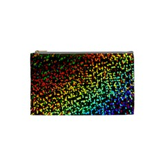 Construction Paper Iridescent Cosmetic Bag (small)  by Amaryn4rt