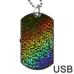 Construction Paper Iridescent Dog Tag Usb Flash (two Sides) by Amaryn4rt