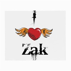 I Heart Zak Small Glasses Cloth by badwolf1988store