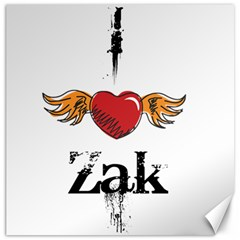 I Heart Zak Canvas 16  X 16   by badwolf1988store