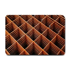 Metal Grid Framework Creates An Abstract Small Doormat  by Amaryn4rt