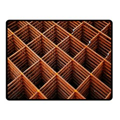Metal Grid Framework Creates An Abstract Fleece Blanket (small) by Amaryn4rt