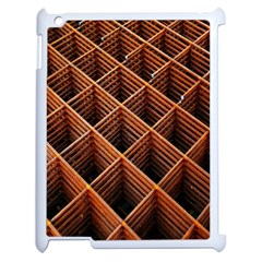Metal Grid Framework Creates An Abstract Apple Ipad 2 Case (white) by Amaryn4rt