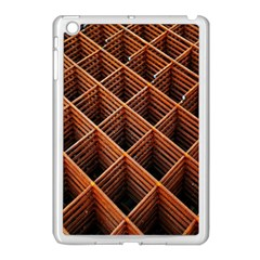 Metal Grid Framework Creates An Abstract Apple Ipad Mini Case (white) by Amaryn4rt