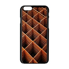 Metal Grid Framework Creates An Abstract Apple Iphone 6/6s Black Enamel Case by Amaryn4rt
