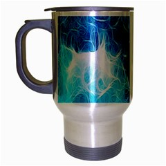 Fractal Occean Waves Artistic Background Travel Mug (silver Gray) by Amaryn4rt