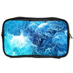 Fractal Occean Waves Artistic Background Toiletries Bags 2 Side by Amaryn4rt