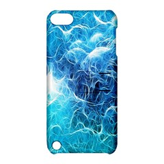 Fractal Occean Waves Artistic Background Apple Ipod Touch 5 Hardshell Case With Stand by Amaryn4rt