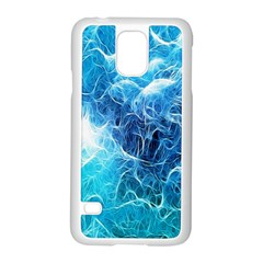 Fractal Occean Waves Artistic Background Samsung Galaxy S5 Case (white) by Amaryn4rt