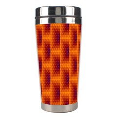 Fractal Multicolored Background Stainless Steel Travel Tumblers by Amaryn4rt