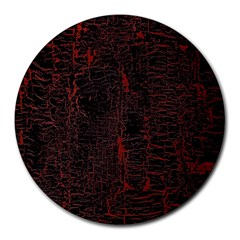 Black And Red Background Round Mousepads by Amaryn4rt