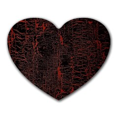 Black And Red Background Heart Mousepads by Amaryn4rt