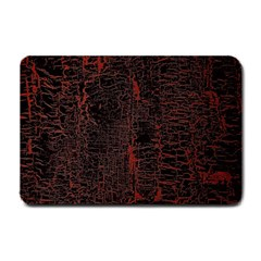 Black And Red Background Small Doormat  by Amaryn4rt