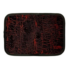 Black And Red Background Netbook Case (medium)  by Amaryn4rt
