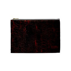 Black And Red Background Cosmetic Bag (medium)  by Amaryn4rt